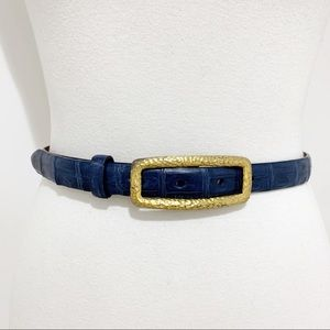 Carlisle Genuine Caiman Crocodile skin belt Sz M
